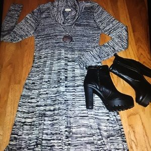 CALVIN KLEIN sweater dress cowl neck size Large